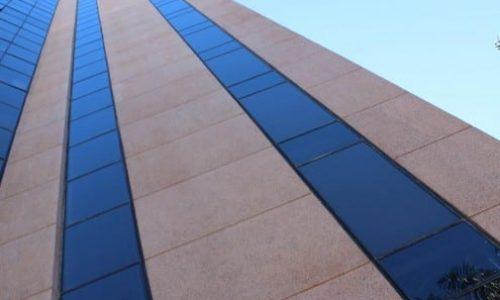 Uma das fachadas de prédios da Conspem.