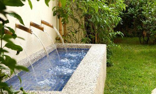 O material fulget é ótimo para áreas externas, inclusive se tiver água porque funciona como uma drenagem.